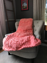 Load image into Gallery viewer, Coral Chunky Knit Throw - Hands On For Homemade