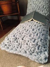 Load image into Gallery viewer, Chunky Knit Powder Blue Body Pillow