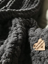 Load image into Gallery viewer, Chunky Knit Blanket: Mini Throw | Gray Knit Throw Blanket - Hands On For Homemade