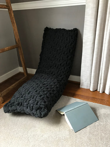 Chunky Knit Black Body Pillow