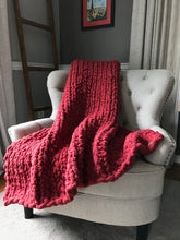 Load image into Gallery viewer, Chunky Red Knit Throw