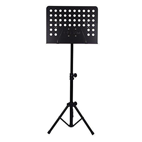 Folding Music Stand with Carry Bag (Black)