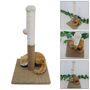 Cat Scratching Play Post Climbing Tree - Light Brown