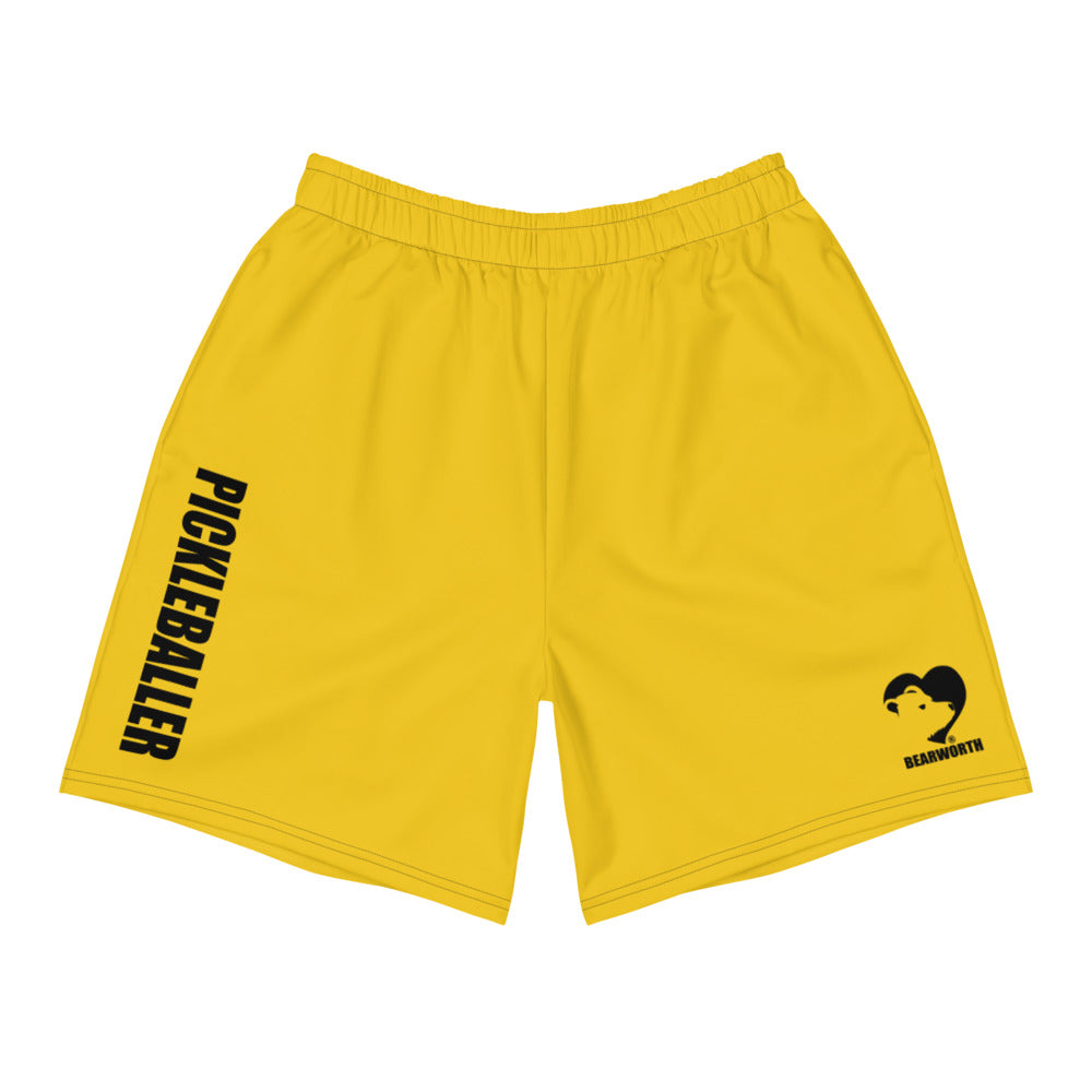 Pickleballer Athletic Shorts (Yellow)