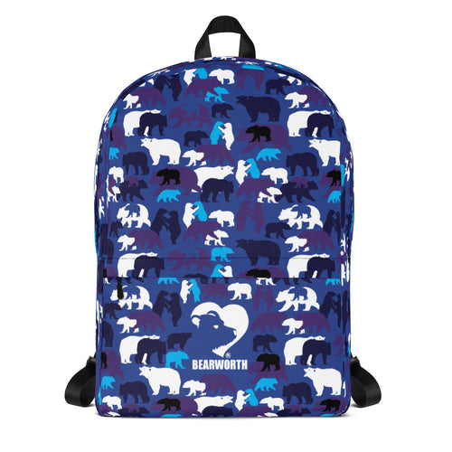 Blue Camo Bears Backpack