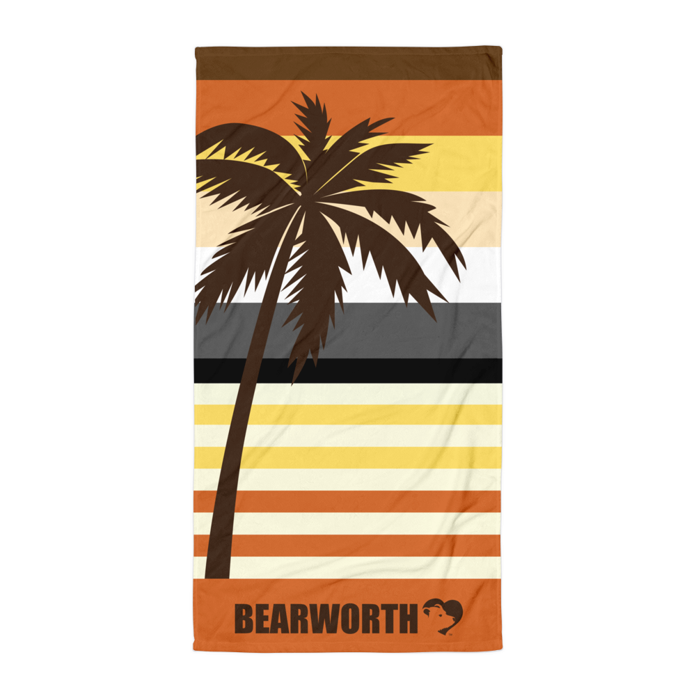 Bear Palm Tree Towel