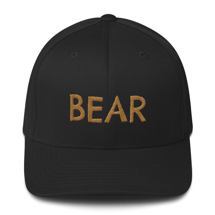 BEAR Gold Flexfit Cap
