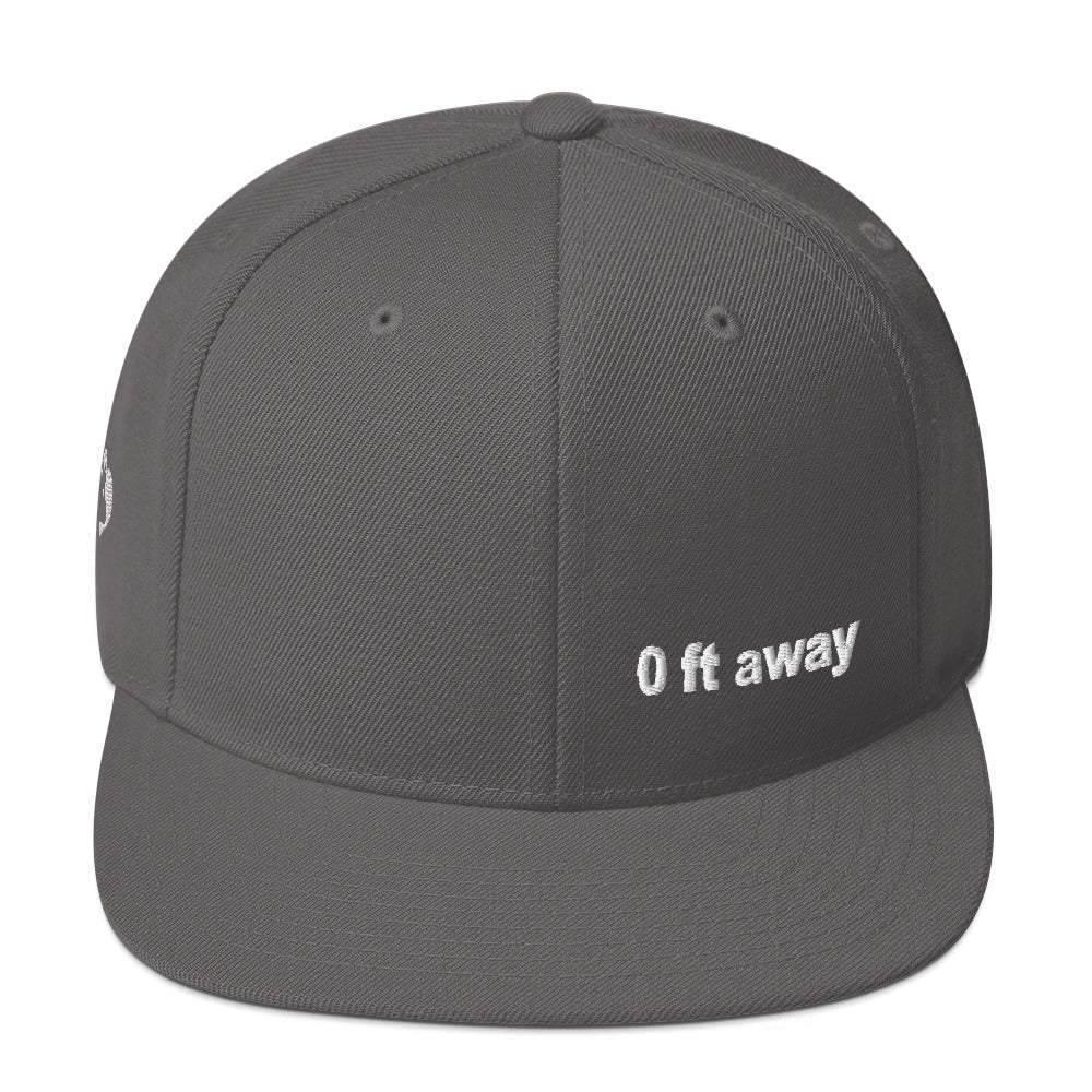 0 ft away Snapback Hat