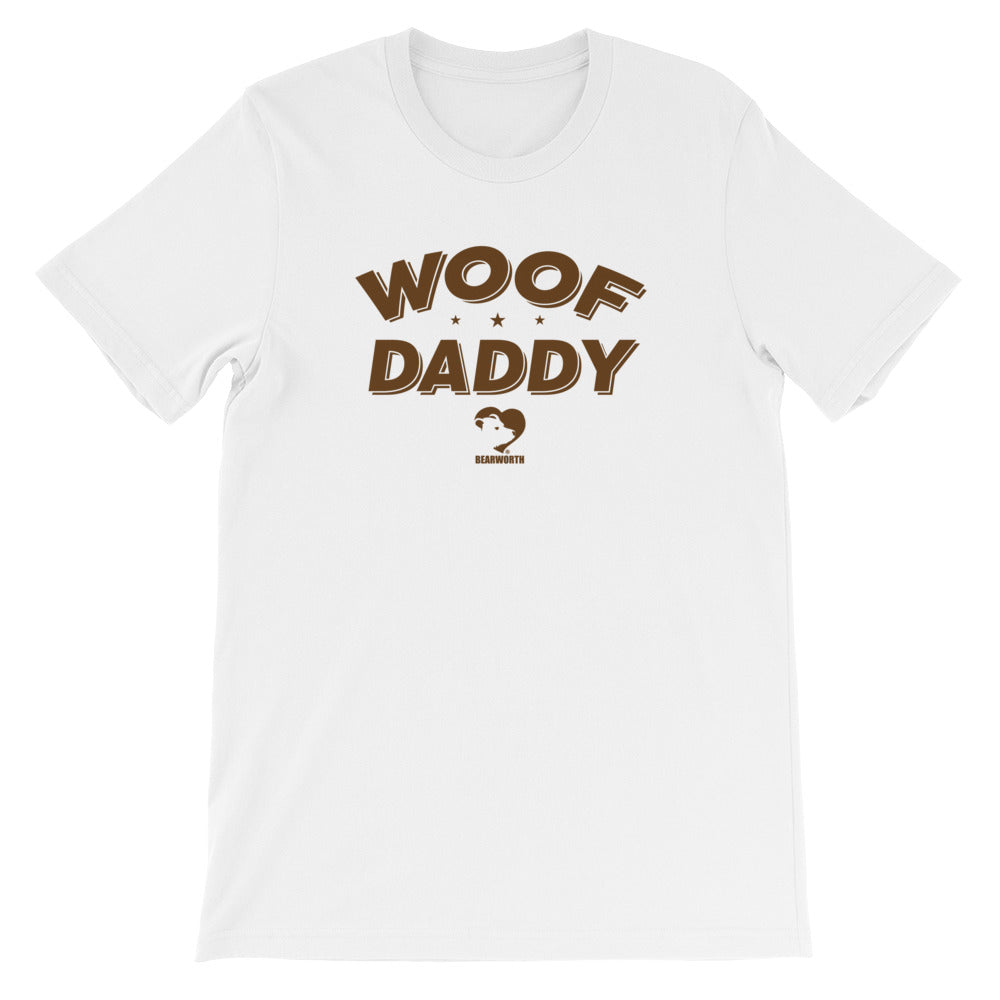 WOOF DADDY T-Shirt (brown font)
