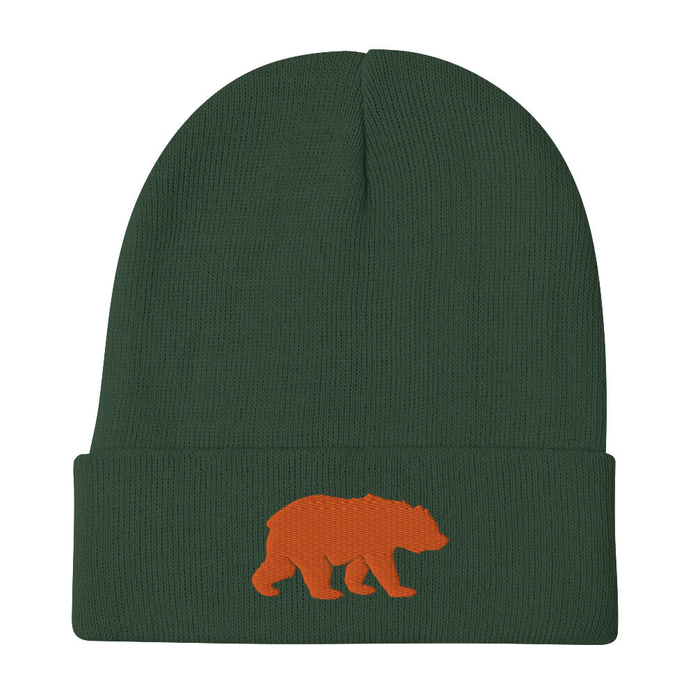 Big Bear (Orange) Embroidered Beanie