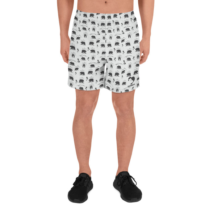 Men's Athletic Mountain Bears Shorts (Wht/Gray)