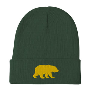 Big Bear (Yellow) Embroidered Beanie