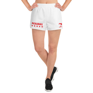 Pickleball Stars Women's Athletic Short Shorts