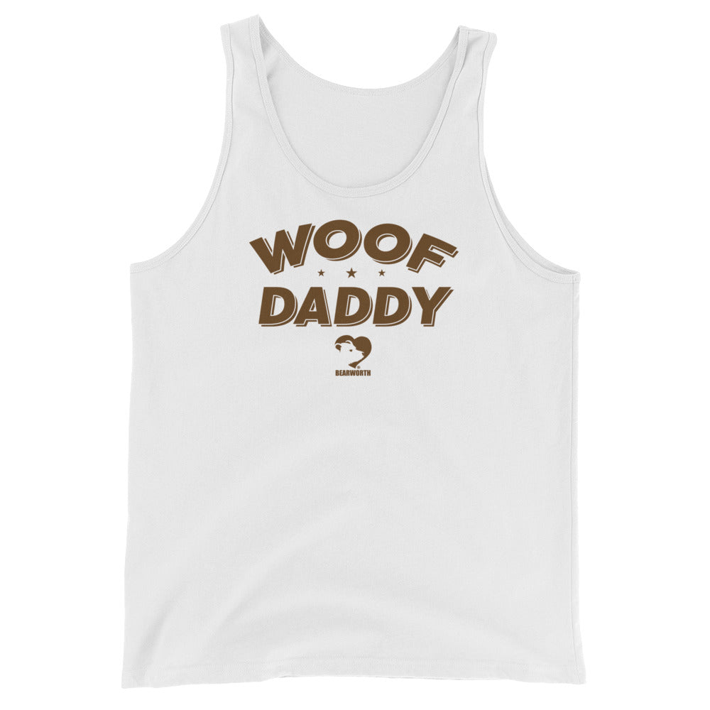 WOOF DADDY Tank Top (brown font)