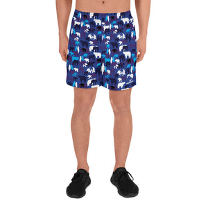 Men's Athletic Blue Camo Bears Shorts