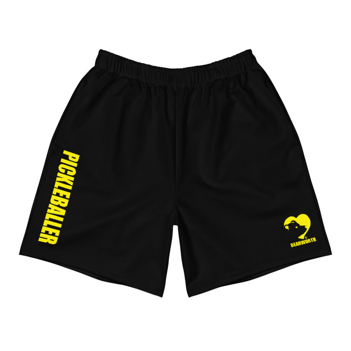 Pickleballer Athletic Shorts (Black/yellow)