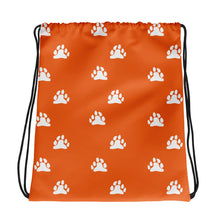 Bear Paws (Orange) Drawstring Bag