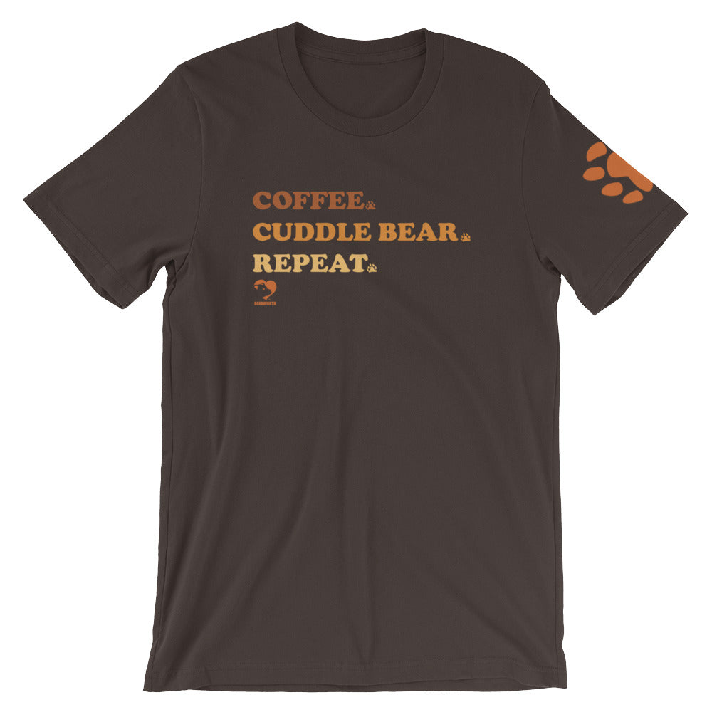 Coffee Cuddle Bear Repeat T-Shirt