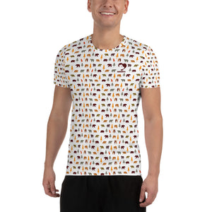 Bears All Over Men's Athletic T-shirt