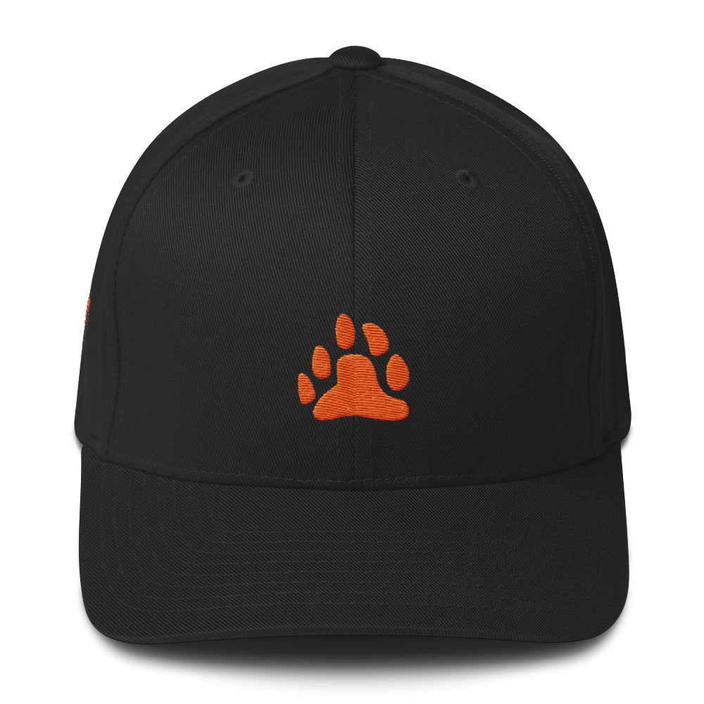 Bear Paw (Orange) Structured Twill Cap