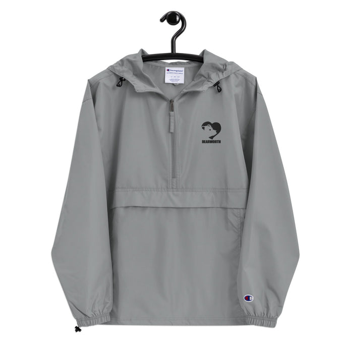 BEARWORTH Embroidered Champion Packable Jacket (Gray)