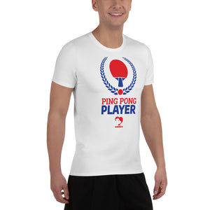 Ping Pong Player Athletic T-shirt