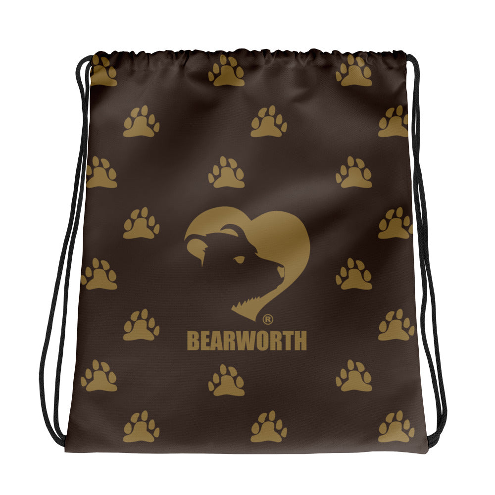Bear Paws (Brown) Drawstring Bag