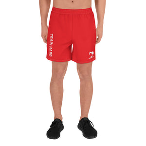 Men's Athletic Train Hard Shorts (Orange)