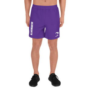 Men's Bear Paw Butt (Purple) Shorts