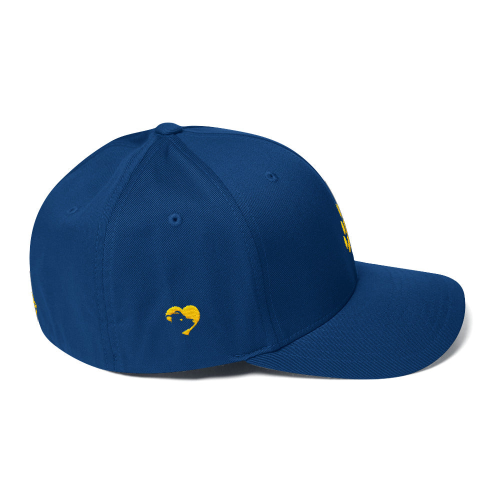 Bear Paw (Yellow) Structured Twill Cap