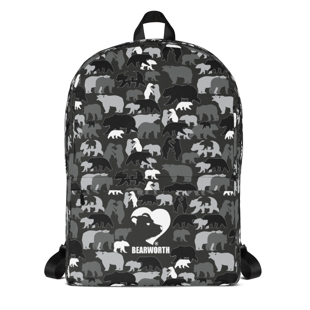 Gray Camo Bears Backpack