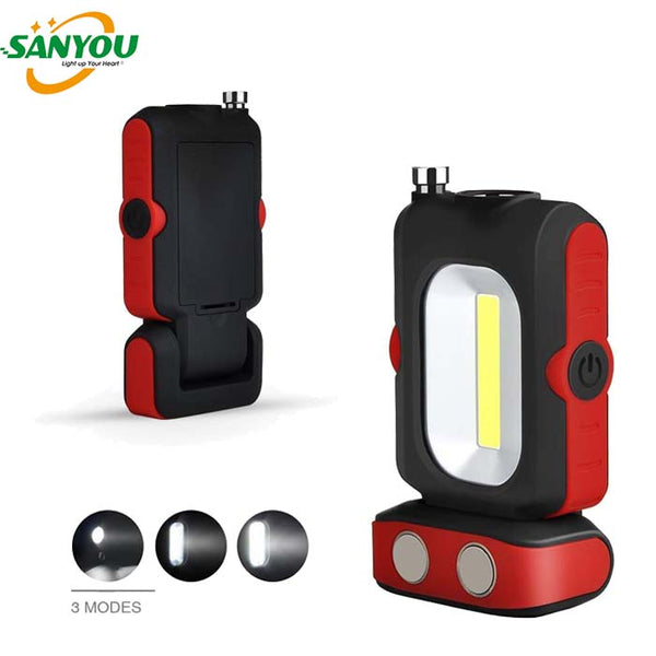 Sanyou hot sale 1.5W Rechargeable Multi-use Flashlight handle light led work light