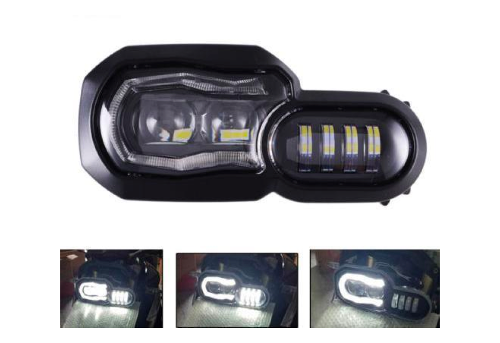 SANYOU Motorcycle Black LED Headlight Angel Eyes Assembly for BMW F800GS F700GS 13-16