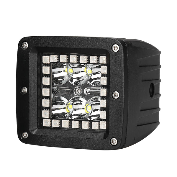 2018 newest popular rgb led work light 18W for jeep led work light bar