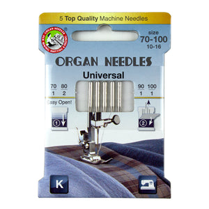 Universal Asst (1 ea 70/90/100 - 2ea 80), 5 Needles per Eco pack