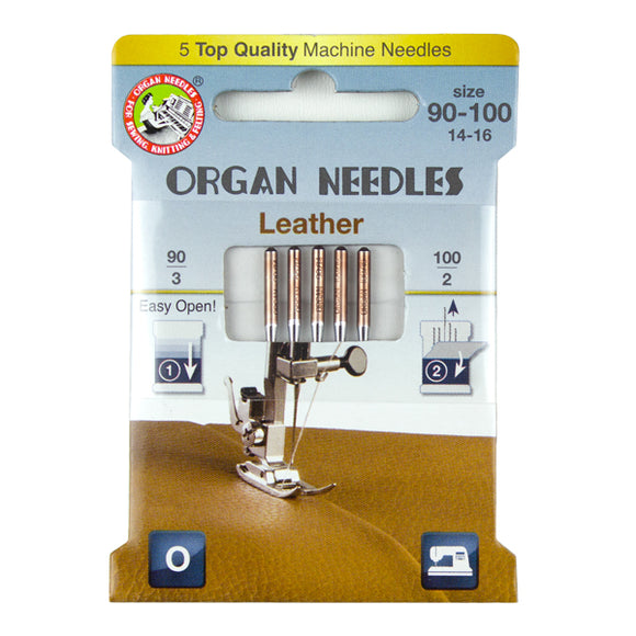 Leather Assortment (3ea 90, 2ea 100), 5 Needles per Eco pack