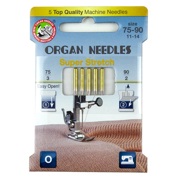 Super Stretch Assortment (3ea 75, 2ea 90), 5 Needles per Eco pack