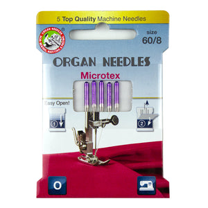 Microtex Size 60, 5 Needles per Eco pack
