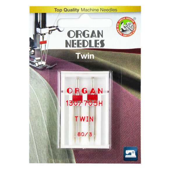 Twin Size 80/3mm, 2 Needles per blister pack