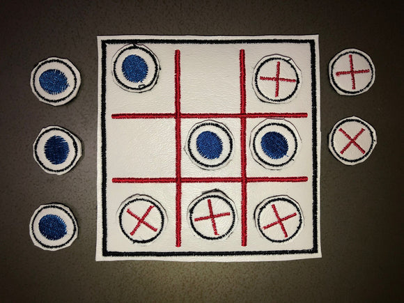 Embroidered Tic-Tac-Toe Board & Pieces