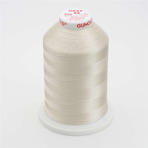 Sulky 40 wt 5500 Yard Rayon Thread - 940-0520 - Bone