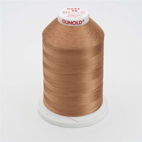 Sulky 40 wt 5500 Yard Rayon Thread - 940-0521 - Nutmeg