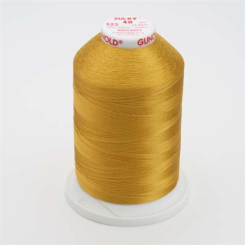 Sulky 40 wt 5500 Yard Rayon Thread - 940-0523 - Autumn Gold
