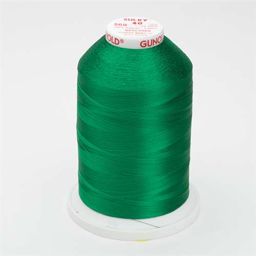 Sulky 40 wt 5500 Yard Rayon Thread - 940-0569 - Garden Green