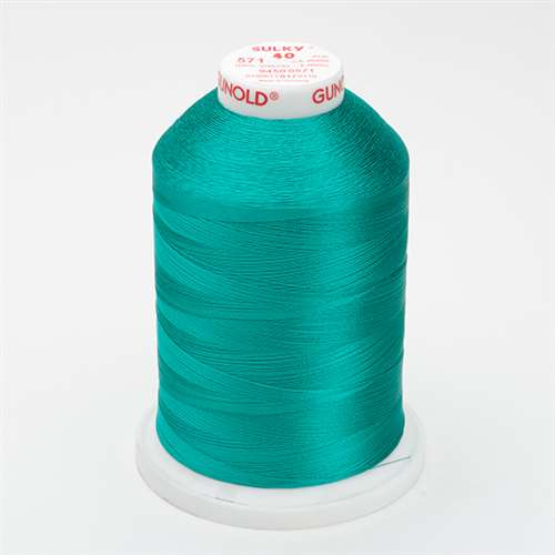 Sulky 40 wt 5500 Yard Rayon Thread - 940-0571 - Deep Aqua