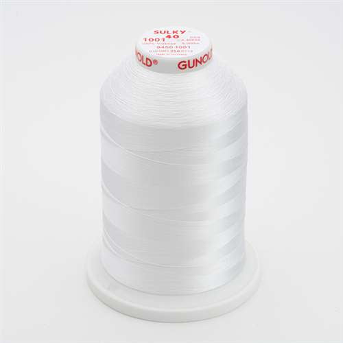 Sulky 40 wt 5500 Yard Rayon Thread - 940-1001 - Bright White