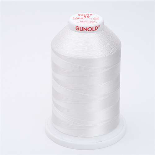 Sulky 40 wt 5500 Yard Rayon Thread - 940-1002 - Soft White