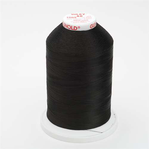 Sulky 40 wt 5500 Yard Rayon Thread - 940-1005 - Black