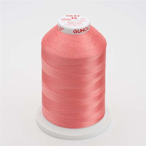 Sulky 40 wt 5500 Yard Rayon Thread - 940-1020 - Dark Peach