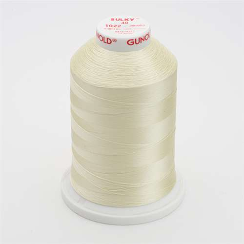 Sulky 40 wt 5500 Yard Rayon Thread - 940-1022 - Cream